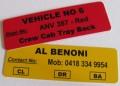 Magnetic PVC Labels